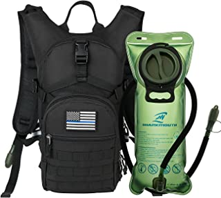 SHARKMOUTH Tactical MOLLE Hydration Pack Backpack 900D with 2L Leak-Proof Water Bladder, Keep Liquids Cool for Up to 4 Hou...