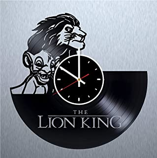 The Lion King Design Vinyl Wall Clock Great Gift for Men, Women, Kids, Girls and Boys, Birthday, Christmas Beautiful Home Decor - Unique Design That Made Out of Vinyl LP Record