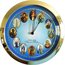 Blessed Mother Mary Melody Round Clock