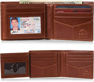Alpine Swiss RFID Mens Wallet Deluxe Capacity Divided Bill Sections Choice of Coin Bifold Trifold