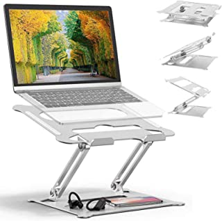 Adjustable Laptop Stand Oli & Ode Table Stand Portable Ergonomic Notebook Stand with Heat-Vent, Heavy Duty Laptop Holder C...