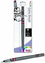 Pentel Arts Color Brush with Pigment Ink, Fine Tip, Black Ink, Pack of 1 (FP5FBPA)
