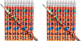 4 Dozen (48) Race Car Pencils ~ Party Favors Teacher Classroom Prize Nascar Indy Daytona Grand Prix