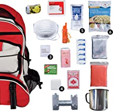 Wise Food Emergency Survival Backpack Kit, Great Go Bag for Hurricanes, Fires, Earthquakes