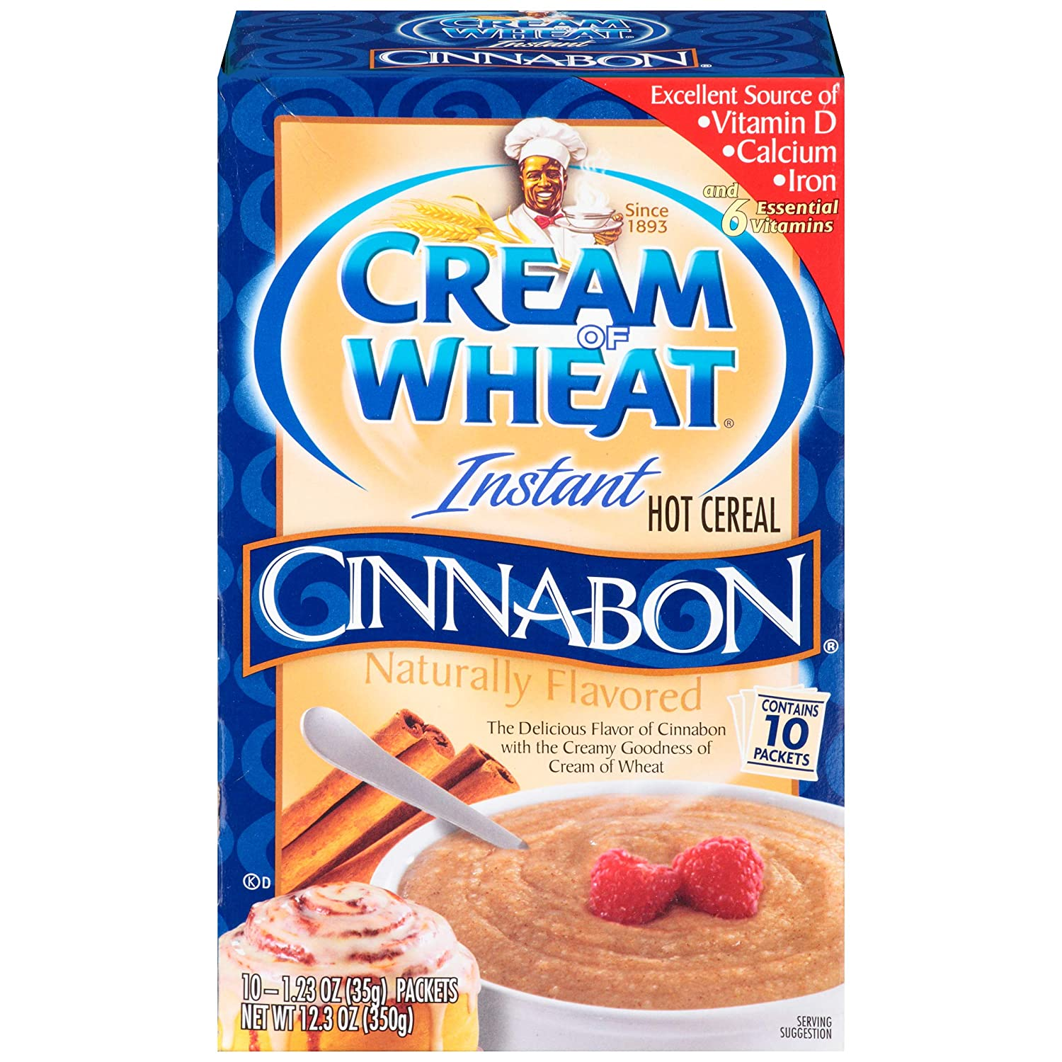 Cream of Wheat Instant Hot Cereal 10 1.23 Ounce Popular standard Pack Cinnabon Sale special price