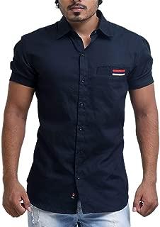 PP Shirts Men Black Coloured Solid Shirt