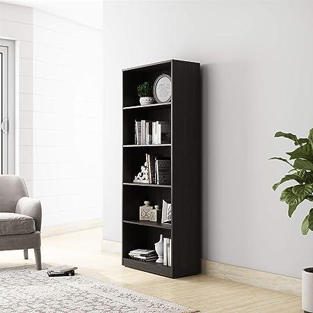 Amazon Brand - Solimo Pavo Engineered Wood Bookcase with 5 Shelves (Wenge)