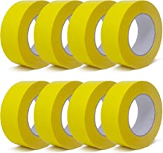 gws Weefseltape, sterk klevende Duct Tape in verschillende kleuren, lengte: 50 m (8 rollen - geel - 44 mm breed)