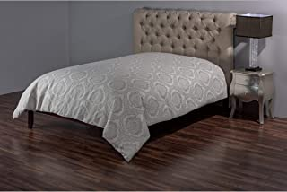 Rizzy Home Duvet Cover (Unfilled), DFSBT3011IVTA1692, Ivory/Taupe, King