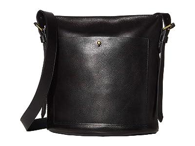 Madewell Classic Transport Bucket Bag (True Black) Handbags