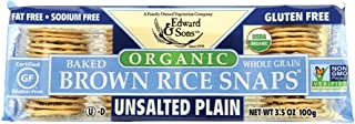 Edward & Sons Edward & Sons Brown Rice Snaps, Unsalted Plain with Organic Brown Rice, 3.5 Ounce Packs (Pack of 12) (SHOMAS...