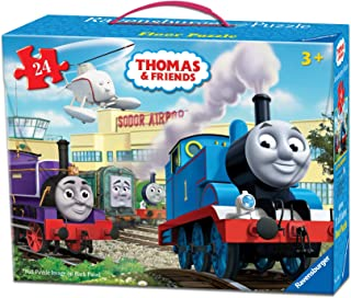 "Ravensburger Thomas Friends at The Airport Floor Puzzle in a Suitcase Box, 24-Piece Jigsaw Puzzle for Kids "" Every Piece is Unique, Pieces Fit Together Perfectly"