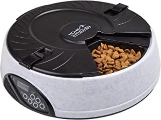 Home Intuition 6 Meal Automatic Pet Feeder with Programmable Timer, Grey