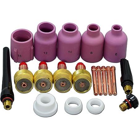 2.4mm/&3//32 Corps de pince WP-9 Torche de soudage /à larc TIG /à largon Corps de la pince laiton Pince d/électrode en tungst/ène Accessoires de soudage /à souder /électronique pour soudage /à largon