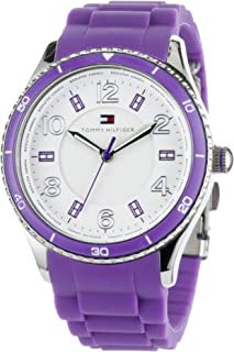 Tommy Hilfiger Women's 1781061 Sport Purple Silicon Textured Dial Watch