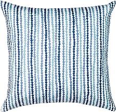 Almofada Madri Lívia Estampada Santista - Quadrado - Azul