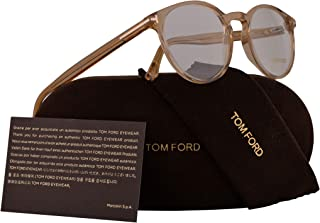 42f5d89d768 Tom Ford FT5524 Eyeglasses 49-19-145 Shiny Light Brown w Demo Clear