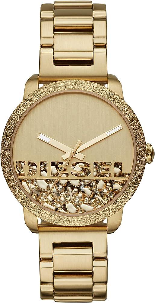 Diesel orologio da donna in acciaio inossidabile quadrante decorato effetto pietre DZ5587