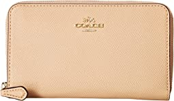 COACH - Medium Zip Around Wallet in Crossgrain Leather