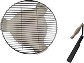 soldbbq Ceramic Plate Setter, Heat Deflector & Stainless Steel Charcoal Fire Grate Fit for 18