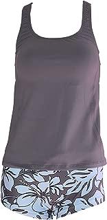 Women Plus Size UPF50+ Swim Tankini Sleeveless Bra Top Rash Guard