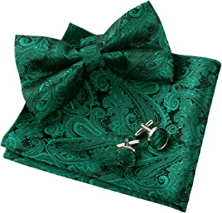 Best dark green bow tie and pocket square Reviews