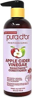 PURA D'OR Apple Cider Vinegar Thin2Thick Conditioner - With Biotin, Keratin, Caffeine, Castor Oil & Key Active Ingredients...