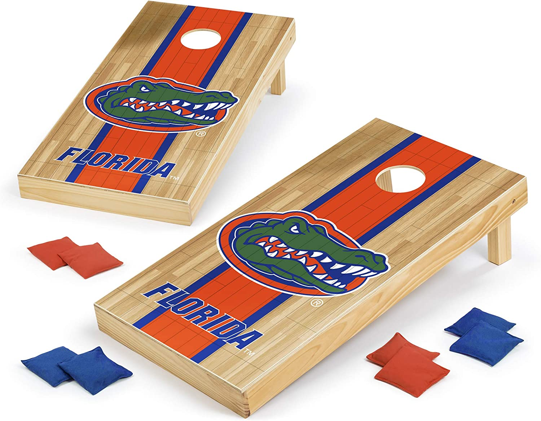 Wild Sports NEW before selling NCAA Cornhole Outdoor National uniform free shipping Game 2' Hardwood Design Set