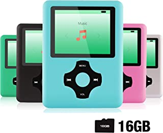 Ultrave MP3/MP4 Player with 16G SD Card, Portable Lossless Sound Player, Rechargeable MP3 Player, Also Support Ebook, Imag...