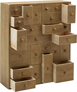 HYGGEHAUS Rustic Jewelry and Makeup Organizer - Countertop Storage | Apothecary Cabinet | Storage Drawers | Craft Organizer | Handmade Wooden Cabinet | Desktop. 12.5in x 14.5in x 4in
