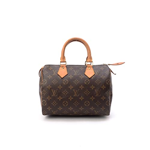 Womens Authentic Louis Vuitton Speedy 25 Brown Monogram Travel Bag