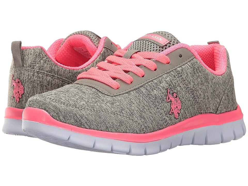 U.S. POLO ASSN. Cece (Grey Heather Jersey/Hot Pink) Women