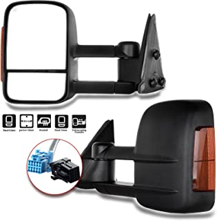 Aftermarket Towing Mirrors 2003-2007 Chevy/GMC Silverado/Sierra Power Heated Signal Side Mirror Pair (2004 2005 2006 Models 07 Classic)