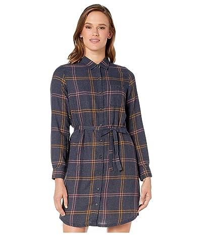 Toad&Co Re-Form Flannel Shirtdress (True Navy) Women