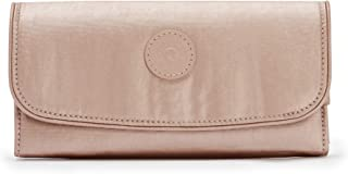 Kipling Money Land Metallic Snap Wallet Rose Gold Metallic