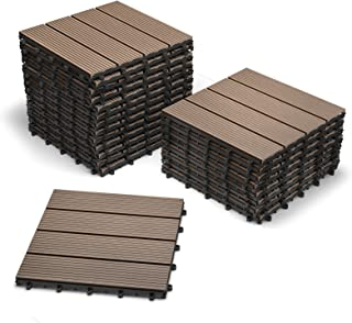 comprar comparacion SAM® Baldosas en WPC con Sistema de Click, Set de 22 Piezas de Aprox. 2 m², Color marrón Chocolate, baldosas de jardín con...
