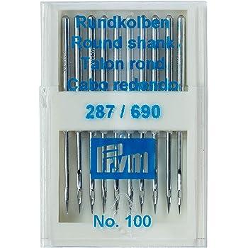 Prym 152286 287(690) -Agujas para máquina de coser (punta redonda ...