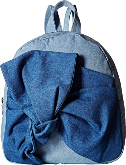 Blair Denim Backpack w/ Bow