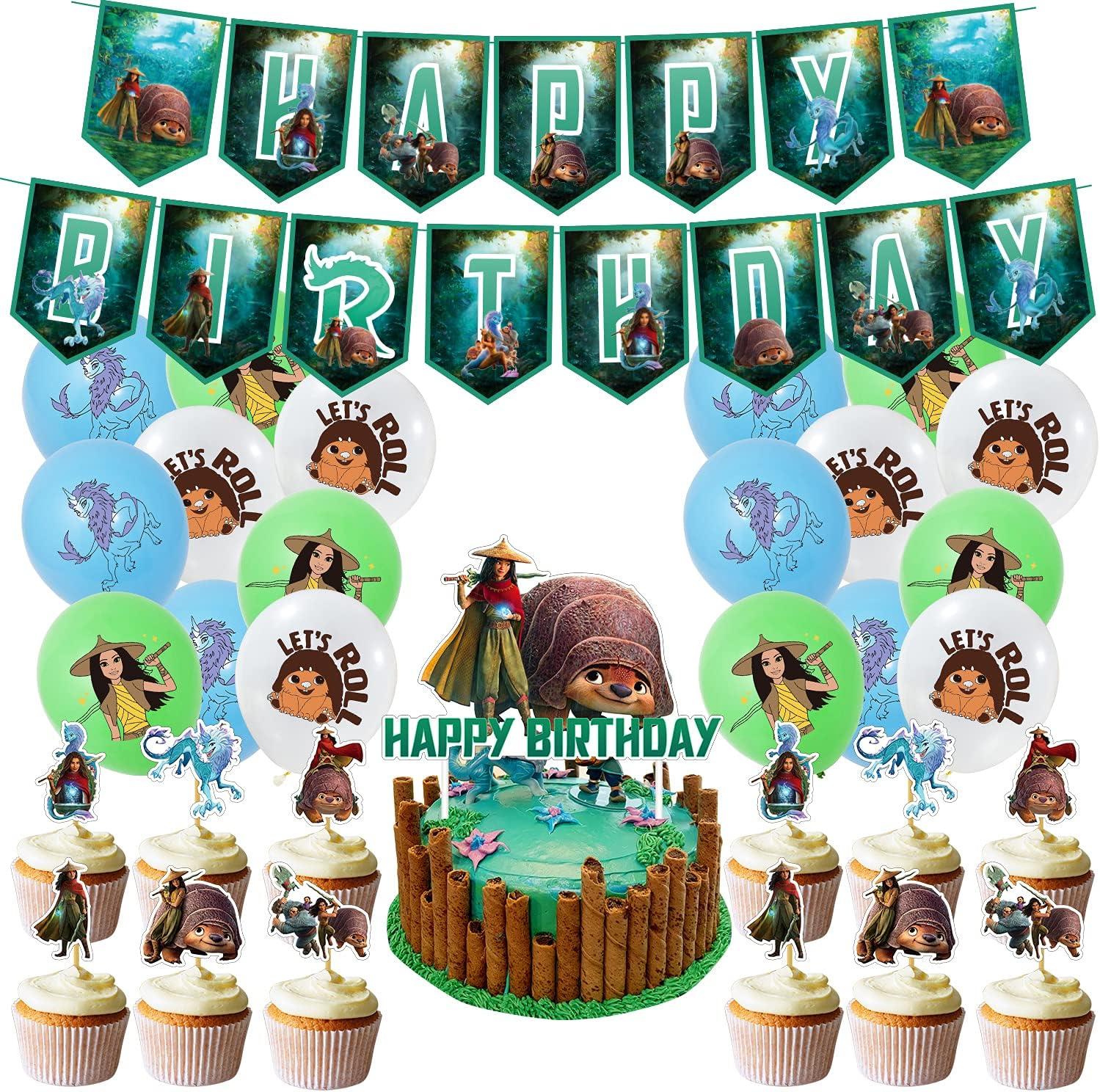 Raya Birthday Decorations The Last Supplie 1 year warranty Dragon Party Burthday OFFicial shop