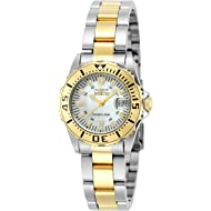 Invicta Women's 6895 Pro-Diver Stainless Steel 18k Yellow Gold-Plated and Mother-of-Pearl...