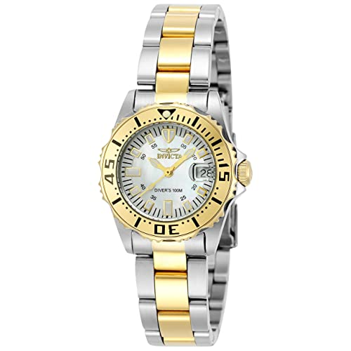 abcb6e47ed3 Invicta Women s 6895 Pro-Diver Stainless Steel 18k Yellow Gold-Plated and  Mother-