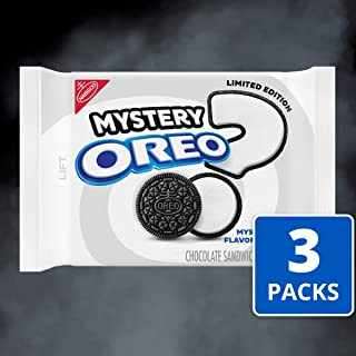 Oreo Chocolate Sandwich Cookies, Limited Edition Mystery Flavor Creme, 3 Resealable Pack (12.2 Ounce .), 3Count