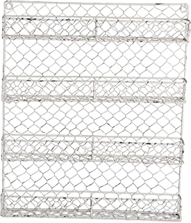 DII Z01925 Farmhouse Vintage Metal Chicken Wire Organizer for Kitchen Wall, Pantry Or Cabinet, 17