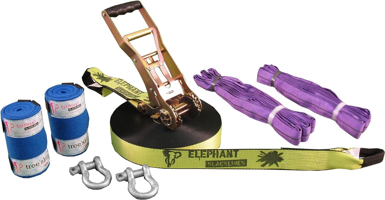 ELEPHANT SLACKLINE 8ABD.502.T025.S2 Freak Flash Line Set 2500 x 5 cm Neon Yellow by ELEPHANT SLACKLINE
