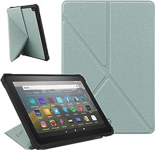 ZhaoCo Funda Compatible con Kindle Fire HD 8 2020 y Fire HD 8 Plus (10 ª Generación, Versión 2020), Carcasa Ligera de Cuer...