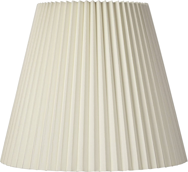 Ivory Pleated Large Lamp Shade 10