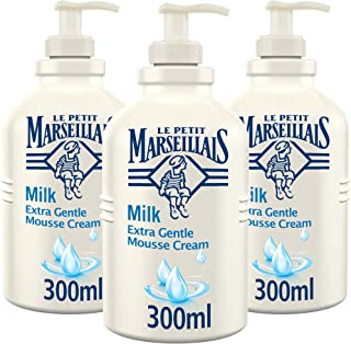 LE PETIT MARSEILLAIS Mousse Cream Milk Extra Gentle, 300 ml Pack of 3
