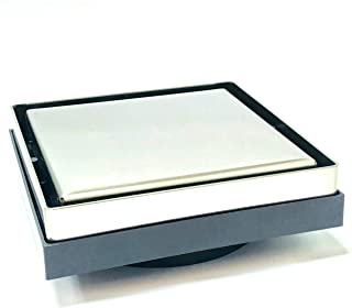 AQUADRAIN Tile Drain 130 X 130 MM With Vertical Outlet - AQD-FC052-F-SS