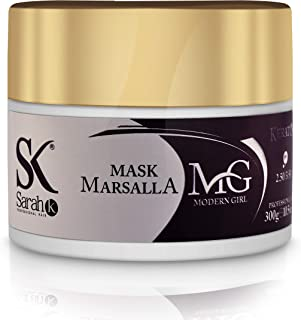 Modern Girl Marsala Red Hair Tinted Color Extender Mask – Color Depositing Conditioner Hair Dye Kit Repairs & Renews Color for Color-Treated & Naturally Red & Auburn Tones by Sarah K, 300 mL/10.5 oz.