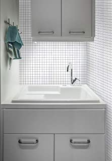"""White Glossy Mosaic Contact Paper White Peel and Stick Wallpaper Removable Self Adhesive Film Grid White Wallpaper Decorative Shelf Drawer Liner Kitchen Bathroom Roll 78.7""""x17.7"""""""